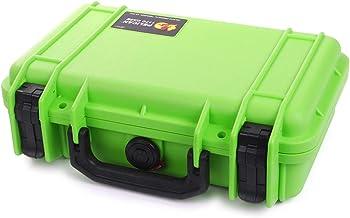 Pelican Lime Green & Black Pelican 1170 case with Foam.