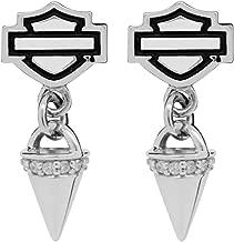 Harley-Davidson Women's B&S Bling Spike Post Earrings, Sterling Silver HDE0432
