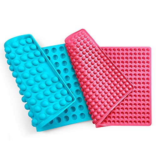 Collory universal silikon Backmatten (2 Stück) | 1cm + 2cm Halbkugel Backform für Hundekekse Hundeleckerlies | 40 x 28.5cm | Hitzebeständig 240°C | Antihaftend & lebensmittelecht (BPA-frei)