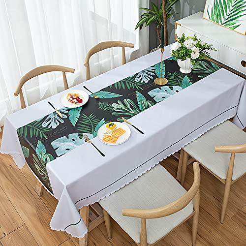 XXDD Mantel Elegante Rectangular decoración de Fiesta de Boda Cubierta de Mesa de Comedor café Mantel Impermeable decoración del hogar A1 140x140cm