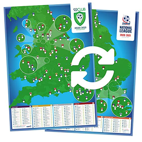 92 Club and National League A1 football stadium wall poster - 2020/2021...