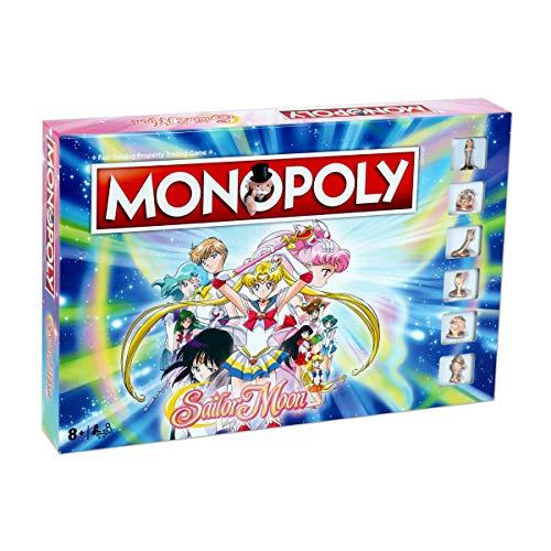 Winning Moves Monopoly Monopolio Sailor Moon, Color Luna Marinero, Talla única (036177)