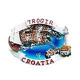 クロアチアトロギル3D冷蔵庫マグネットクラフトお土産樹脂冷蔵庫マグネットコレクショントラベルギフト