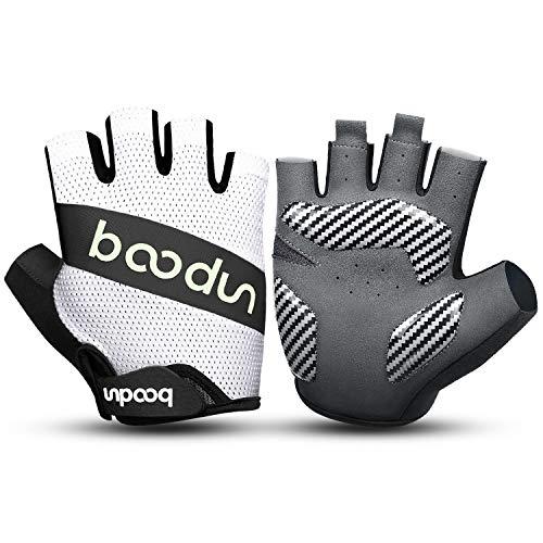 KONVINIT Fahrradhandschuhe Halbfinger Herren Damen MTB Handschuhe Sommer rutschfeste und Stoßdämpfende Radsporthandschuhe für Rennrad Mountainbike Radsport Fahren Schwarz M
