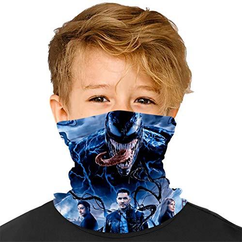 Kids Face Mask Neck Gaiter Ve-nom Cloth Cover Balaclava Reusable Masks For Boys And Girls