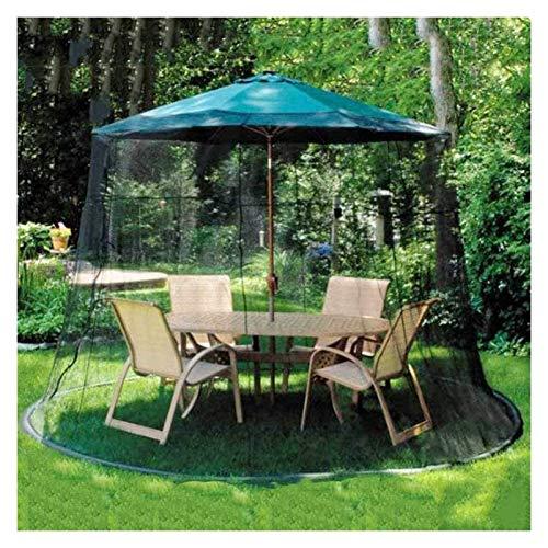 HYZXK Cubierta portátil para Mosquitos de jardín al Aire Libre, Fundas para sombrillas de Patio, sombrilla Impermeable de Fibra de poliéster para sombrilla oa Gazebot-E