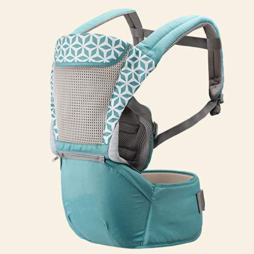 Carril de bebé Multifuncional, Taburete de Cintura para bebé Correa, Single, Cuatro Estaciones - Naranja Desde el Nacimiento hasta el niño (3.5-20 kg),Cyan