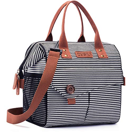 Lunch Bag with Leak Proof Material Insulated Lunch Box for women/men Lunch Tote Bag for Work/Picnic/Hiking/Beach/Fishing zebra pattern