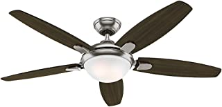54 contempo brushed nickel led fan with remote