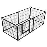 Yaheetech 6 Piezas Valls para Perros Parque Jaula Mascota Corral Plegable 60 X 80cm