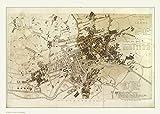 onthewall Vintage Town von Leeds Map Poster Kunstdruck