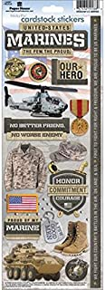 PAPER HOUSE Cardstock Stickers, Marines