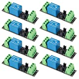 AITRIP 8 Pack 3V 1 Channel Relay Power Switch Module with Optocoupler Opto Isolation High Level Trigger for IOT ESP8266 Development Board