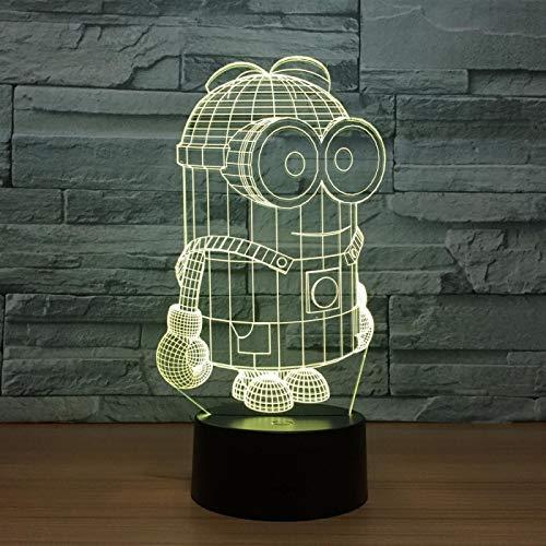3D Nachtlicht 7 Farben3D LED Nachtlichter USB Tischlampe Fußball Lampara Home Decor Schlafzimmer Minions Schlaf Nachtlicht