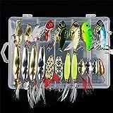 CHSEEO Kit di Esche da Pesca, 21Pcs Artificiale Pesca Richiamo Set Esche da Pesca Crankbai...