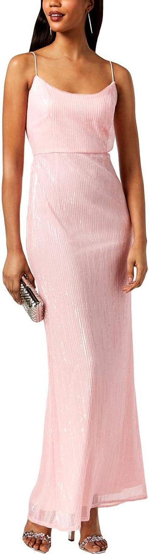 Adrianna Papell Womens Sequined Sleeveless Evening Dress