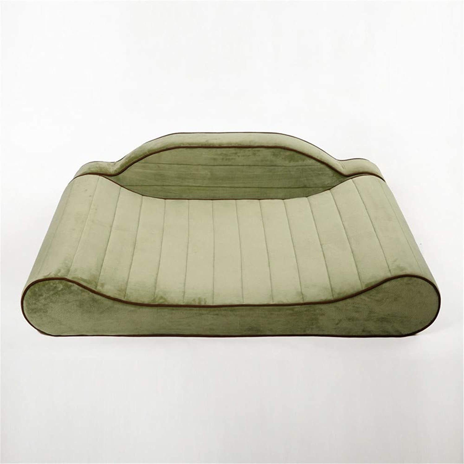 Husky Pet Bed, Dog House In Four Seasons, Large Dog In Pastoral Bed,Green Xl Number 120  84  27Cm