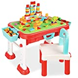 Best Choice Products Kids 8-in-1 Activity Table, Mobile, Collapsible Building Block Statio...