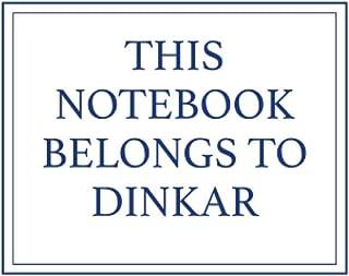 This Notebook Belongs to Dinkar