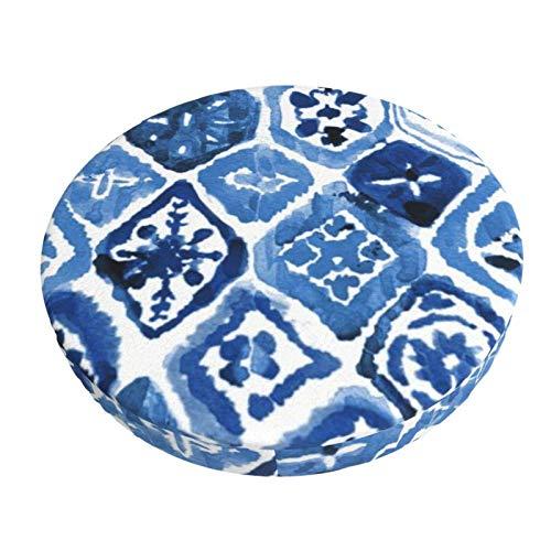 Funda de Asiento para Silla esque Arte del azulejo Material Ploiéster Duradero Fundas Decorativas para sillas de Comedor 13in