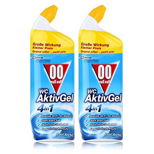 00 null null WC Aktiv Gel 4in1 Cool Arctic 750 ml - Stark gegen Kalk (2er Pack)