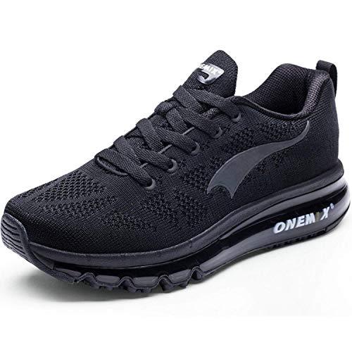 ONEMIX Scarpe da Trail Running Uomo Leggera Scarpe da Corsa Sportive Fitness Outdoor 1118B Black 44