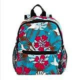 Mochila para niños, mochila escolar con estilo para estudiantes, para niños y niñas, patrón de flores