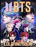 BTS Coloring Book: Stress Relief with BTS Jin, RM, JHope, Suga, Jimin, V, Jungkook Coloring Books for ARMY and KPOP Adults & Teenagers
