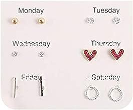 Bravetoshop Earrings for Women Fashion, Multiple Stud Earrings set for Women Girls Simple Hoop Earring Set Girl's Jewelry