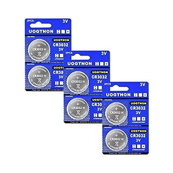 CR3032  BR3032  3V Lithium Battery  6 - Pack