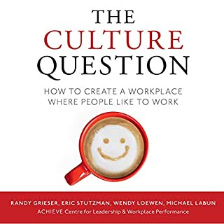 The Culture Question: How to Create a Workplace Where People Like to Work                   Written by:                                                                                                                                 Randy Grieser,                                                                                        Eric Stutzman,                                                                                        Wendy Loewen,                   and others                          Narrated by:                                                                                                                                 Kim Handysides                      Length: 6 hrs and 39 mins     Not rated yet     Overall 0.0