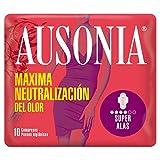 Ausonia Super Compresas Higiénicas con Alas - 10 unidades