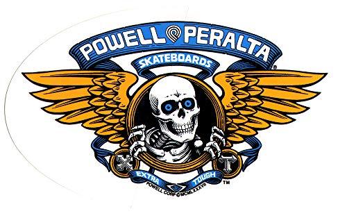 Powell-Peralta Skateboard-Sticker - Winged Ripper - ca. 17 cm breit oval blau Old School New Skate