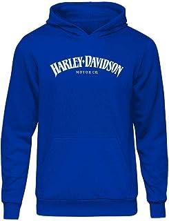 Casual Harley Type Mavi Kapşonlu Hoodie XXL Mavi