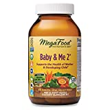 MegaFood, Baby & Me 2, Prenatal and Postnatal Vitamin with Active Form of Folic Acid, Iron, Choline, Non-GMO, 120 Tablets (60 Day Supply)