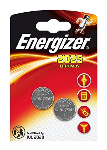 Unbekannt CR2025,Energizer 3 V CR 2025 / DL 2025 Lithium-Batterien - 2er Pack