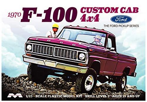 Moebius Models 1/25 1970 Ford F-100 Custom Cab 4x4, MOE1230