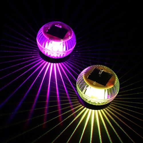 OSALADI Solar Schwimm Pool Lichter IP67 Wasserdichte Multi Farbwechsel Teich Licht LED Nacht Licht für Garten Schwimmen Pool Badewanne Teich Party Wohnkultur (Bunte Licht)