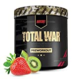 Redcon1 - Total War Preworkout Powder - Strawberry Kiwi - 30 Servings - Insane Energy, Laserlike Focus, Insane Endurance (Strawberry Kiwi)