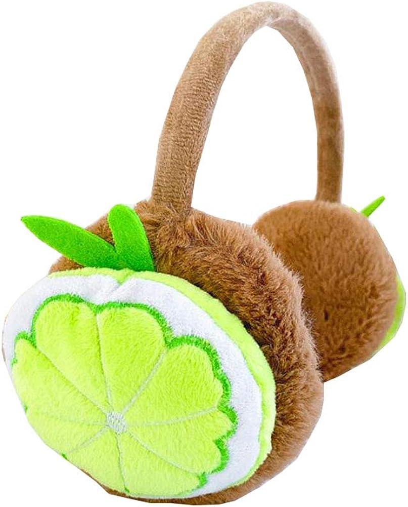 Phoenix Wonder Lovely Kids Warm Winter Earmuffs Winter Ear Warmers Covers Soft Earmuffs for Cold Weather, Lemon