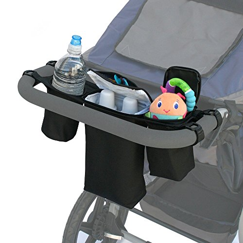 JL Childress Cups 'N Cool Deluxe Stroller Console (Black)