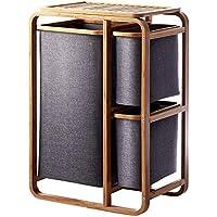 Imoma Se Puede clasificar lavandería Cesta baño Sucio Ropa Cesta Inodoro Almacenamiento Acabado Estante gabinetes de Almacenamiento de bambú