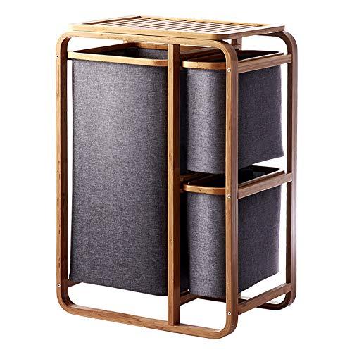 Mueble con cesto de ropa sucia. 3 compartimentos