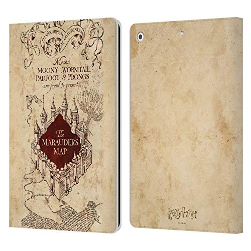 Official Harry Potter The Marauder's Map Prisoner Of Azkaban II Leather Book Wallet Case Cover Compatible For Apple iPad 10.2 (2019)/(2020)