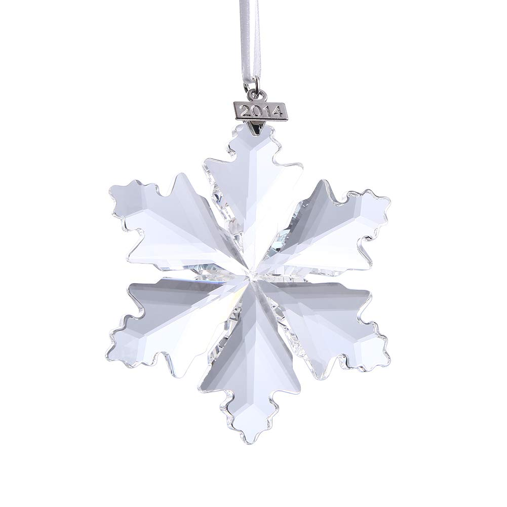 قلادة Xiangban Crystal Snowflake زينة الكريسماس على شكل نجمة ثلجية مزينة بنجوم الثلج من زينة الكريسماس مجوهرات شجرة الكريسماس علامة سنة قابلة للفصل Amazon Ae
