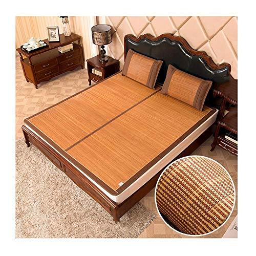 PIVFEDQX Cooling Topper Colchón Colchoneta para Dormir Verano Carbonización Bambú Mate Seda de Hielo Almohadilla Fresca Jacquard Exquisito Fácil de Limpiar, 4 Tipos (Color: D, Tamaño: 2x2.2m (6.6FT))