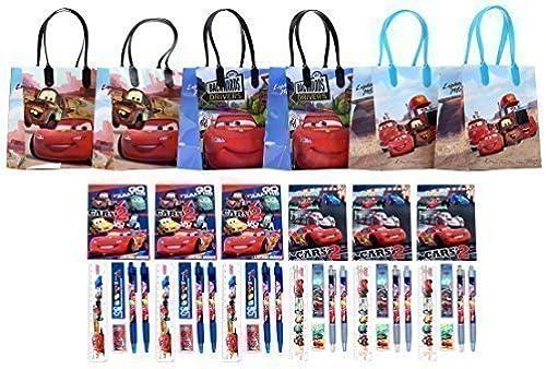 Disney Cars Party Favor Stationery Set - 6 Packs (42 Pcs) by GoodyPlus