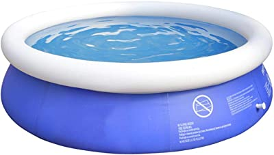 QNTICH 6ft x 20 in Quick Set Inflatable Above Ground Pool with Air Pump
