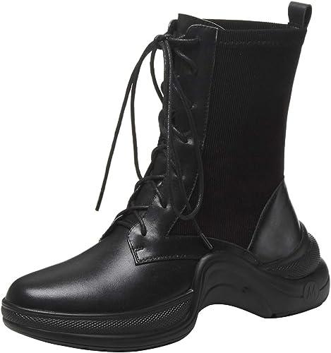 AIYOUMEI - botas clásicas de Piel Lisa mujer