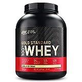 Optimum Nutrition ON Gold Standard 100% Whey Proteína en Polvo, Glutamina y Aminoácidos Naturales, BCAA, Helado de Vainilla, 76 Porciones, 2.28kg, Embalaje Puede Variar